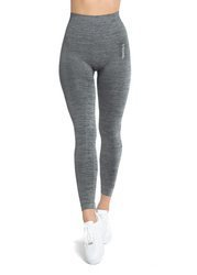 STRONG. - MODELUJĄCE LEGGINSY BEZSZWOWE GREY MELANGE (PUSH UP)