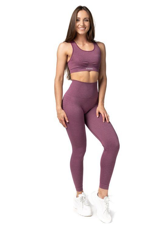 Strong. Legginsy Double Push Up Revolution. Dusty Rose.